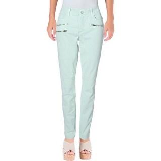 NYDJ Womens Skinny Jeans Zipper Detail Twill