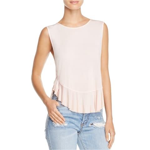 Free People Womens Uptown Basic T-Shirt, Pink, X-Small