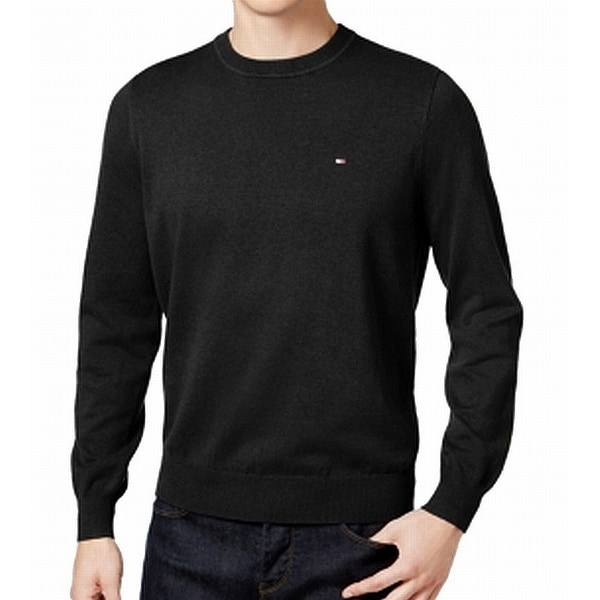 1a8a220cd Shop Tommy Hilfiger Black Men's Size Small S Logo Crewneck Sweater - Free  Shipping On Orders Over $45 - Overstock - 28177112