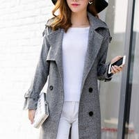 Womens Houndstooth Trench Coat