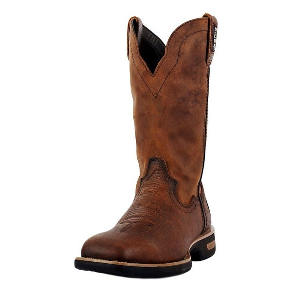 Cinch Work Boots Men WRX Square Horseman Pull On Copper Warrior
