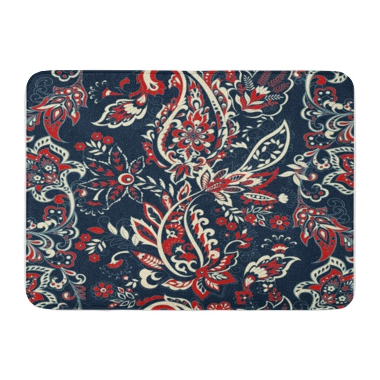 Colorful Paisley Flowers Pattern Floral Vintage Bohemian Doormat Floor Rug Bath Mat 23 6x15 7 Inch Multi On Sale Overstock 31778562