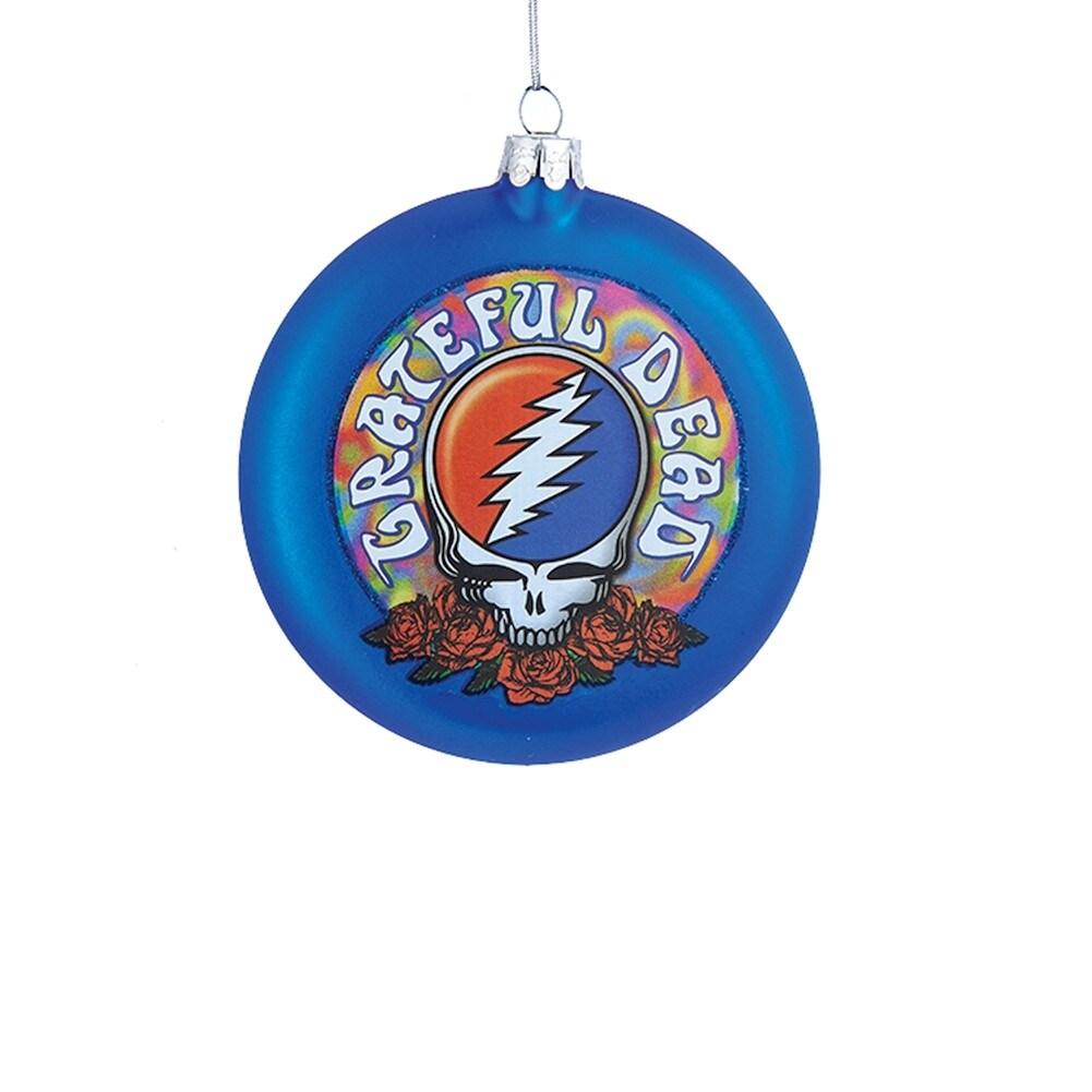 Grateful Dead Christmas Ornament.Grateful Dead Ornaments Steal Your Face Glass Disc 4 25 Diameter