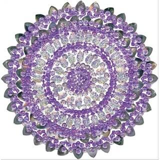 "Design Works/Zendazzle Stamped Needleart Kit 10""X10""-Lilac Mandala"