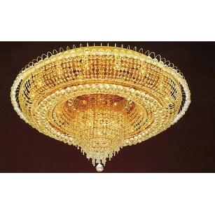 Swarovski Elements Crystal Trimmed French Empire Crystal Flush Chandelier Lighting