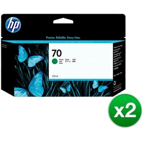 HP 70 130-ml Green DesignJet Ink Cartridge (C9457A) (2-Pack)