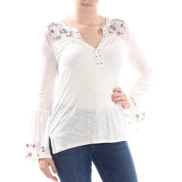Lucky Brand Womens Embroidered-Yoke Dress