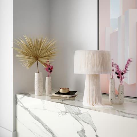 Terrazzo White Vase - Medium Skinny