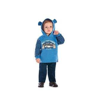Baby Boy Outfit Bear Hoodie Sweater Jacket and Pants Set Pulla Bulla 3-12 Months (More options available)