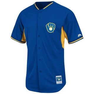 Milwaukee Brewers Royal Batting Practice Jersey by Majestic