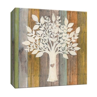 "PTM Images 9-147411  PTM Canvas Collection 12"" x 12"" - ""Family Tree"" Giclee Trees Art Print on Canvas"