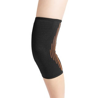 Unique Bargains Sport Basketball Compression Knee Sleeves Support Wrap Brace Protector Pad Black