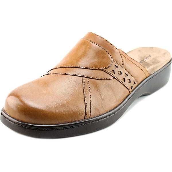 Array Chorus Women Round Toe Leather Tan Mules