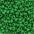 Toho Round Seed Beads 8/0 47D 'Opaque Shamrock' 8 Gram Tube - Thumbnail 0