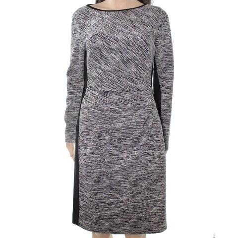 Lauren by Ralph Lauren Womens Marled-Knit Sheath Dress
