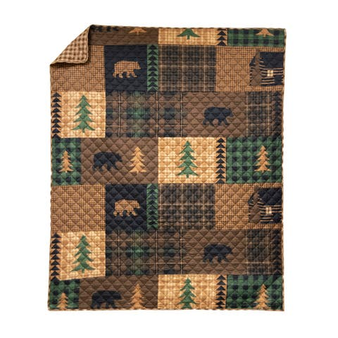 Your Lifestyle by Donna Sharp Brown Bear Cabin Throw