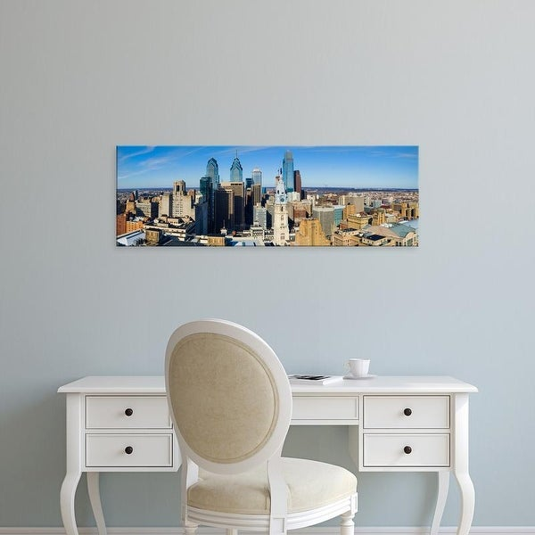 Easy Art Prints Panoramic Images's 'High Angle View of Center City Philadelphia, Pennsylvania' Premium Canvas Art