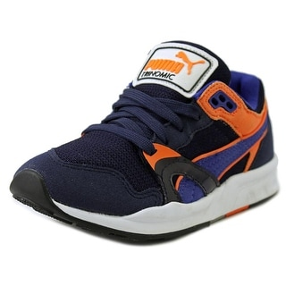 Puma Trinomic Youth  Round Toe Canvas Blue Sneakers