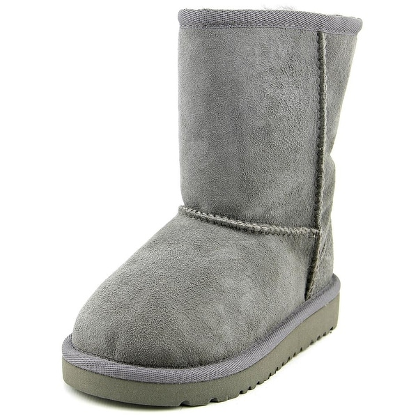 Ugg Australia Classic Toddler Round Toe Suede Gray Winter Boot