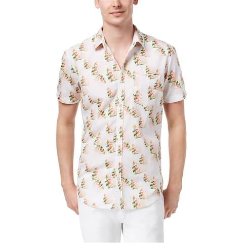 I-N-C Mens Floral Button Up Shirt