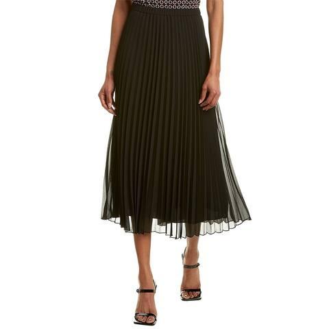 Anne Klein Sunburst Pleated Maxi Skirt