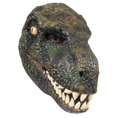 Adult Classic Velociraptor Jurassic Park Dinosaur Mask - Standard - One Size