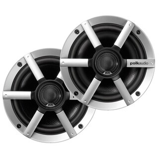 "Polk Mm651Um 6.5"" Coaxial Speakers Silver Spokes Black - MM651UM"