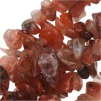 Carnelian Gemstone Beads, Smooth Chip 6-12mm, 36 Inch Strand