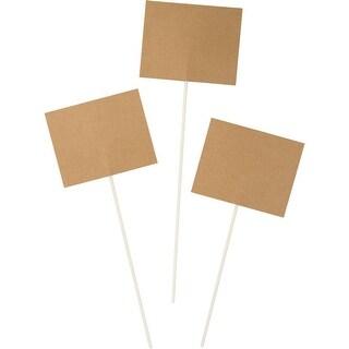 "Club Pack of 18 Kraft Paper Plastic Disposable Party Centerpiece Sticks 17.5"""