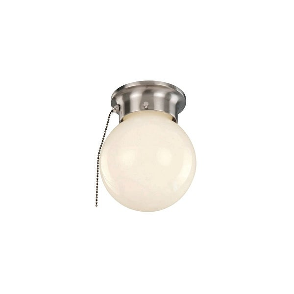 Trans Globe Lighting 3606P 1-Light Flush Mount Globe Pull Chain Ceiling Fixture
