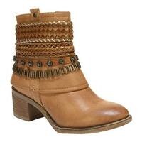 Carlos by Carlos Santana Women's Cole Bootie Tan Mandmade Leather