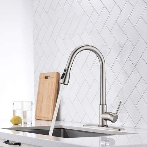 Kitchen Sink Faucets with Pull Down Sprayer