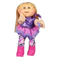 "Cabbage Patch Kids 14"" Plush Doll: Blonde Hair/Brown Eye Girl (Rocker) - multi"