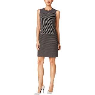 Tommy Hilfiger Womens Wear to Work Dress Shift Pinstriped