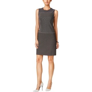 Tommy Hilfiger Womens Wear to Work Dress Shift Pinstriped