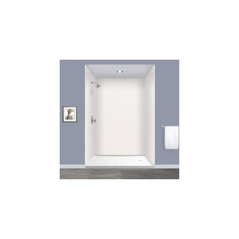 """Transolid Expressions 60-in X 60-in X 96-in Glue to Wall Shower Walls - 60"""" x 60"""" x 96"""""""
