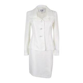 Le Suit Women's Prague Skirt Suit - Vanilla Ice