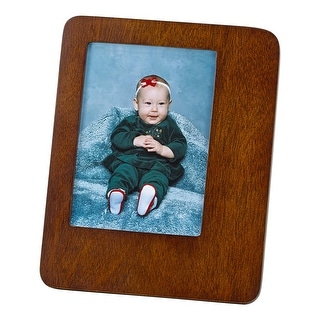 """7"""" Brown Wooden Photo Frame"""