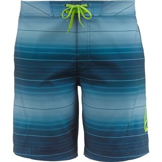 Legendary Whitetails Men's Round Lake Ombre Board Shorts - dark aqua ombre