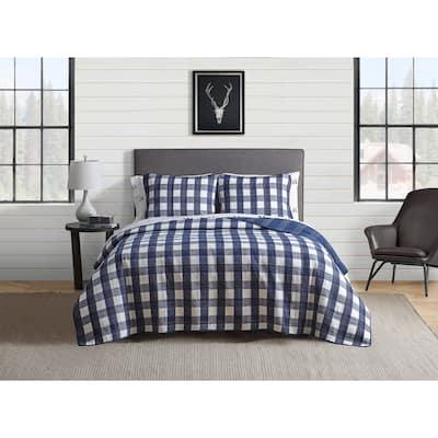 Eddie Bauer Lakehouse Cotton Blue Quilt Set