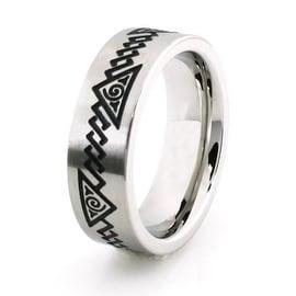 Stainless Steel Ring w/ Chakra Symbol