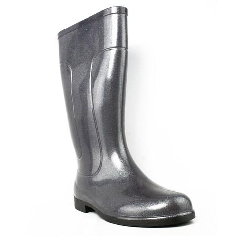 Tundra Womens Drizzle Silver Rainboots Size 6
