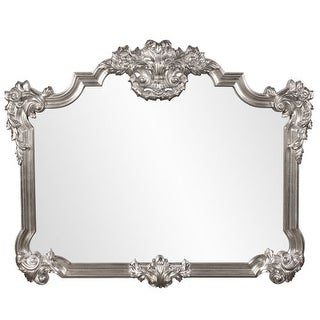 "Howard Elliott 56095 Brighton 48"" x 39"" Bright Silver Leaf Mirror"