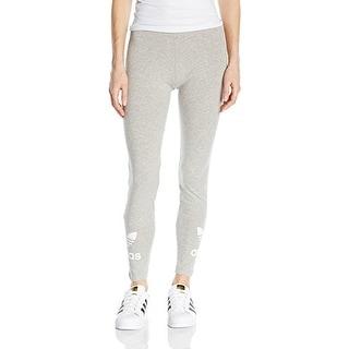 adidas Originals Women's Trefoil Leggings, Medium Grey Heather, L - medium grey heather - LARGE