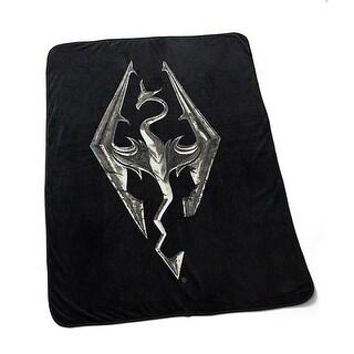 "Skyrim Dragon Emblem 45"" x 60"" Fleece Throw Blanket - Multi"