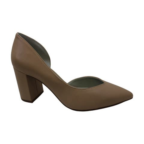 1.STATE Women's Shoes Sisteen Leather Pointed Toe D-orsay Pumps