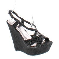 Bella Luna Emmy-10 Women's Open Toe Slingback Platform Strap Wedge Sandals