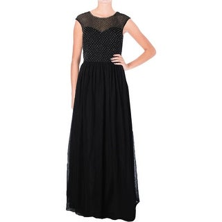 Aqua Womens Semi-Formal Dress Mesh Embellished