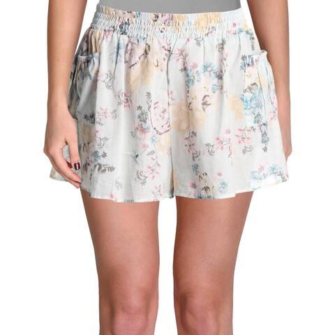 Minkpink Womens Secret Garden Floral Pocket Shorts Swim Cover-Up - M
