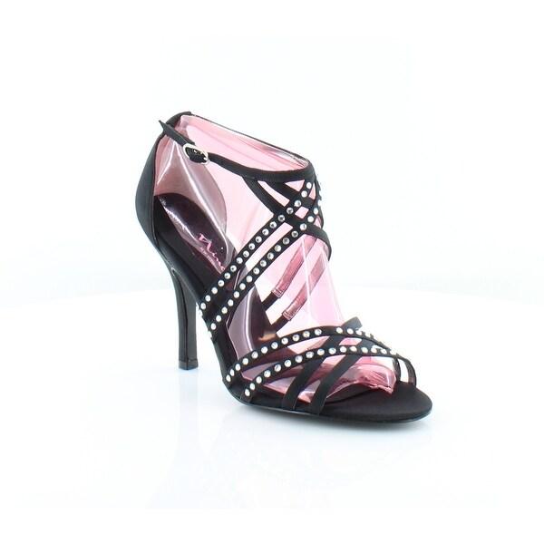 Nina Chrysten Women's Sandals Black Luster - 8.5